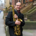 David Layton in Brooklyn with Sax