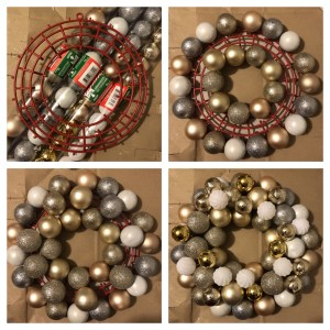 diy ornament wreath $5