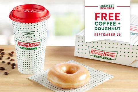 national coffee day Krispy Kreme