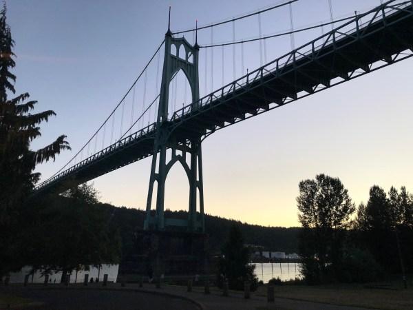 Portland picnic parks - cathedral park