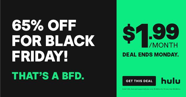 hulu black friday deal