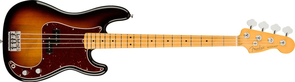 American Professional II Precision Bass®, Maple Fingerboard, 3-Color Sunburst