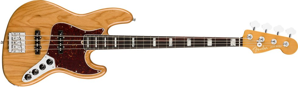 American Ultra Jazz Bass Rosewood Fingerboard, Aged Natural