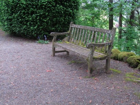 There are a number of benches place through out the garden.