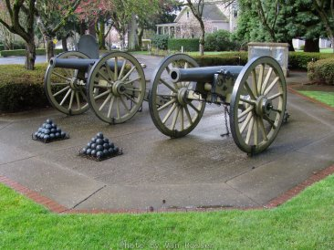 These are replicas of a french style field cannon.