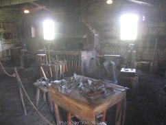 A functioning replica of the HBC blacksmith shop. The shop was need to repair items and started manufacturing items.