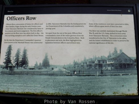 The information sign along Officer Row.
