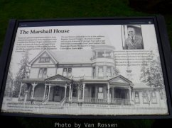 Information sign out front of the Marshall House.