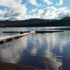 Dock at Olallie Lake. End of season and the boats have been pulled out.