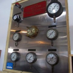 Some of the gauges that must be watched when under way.