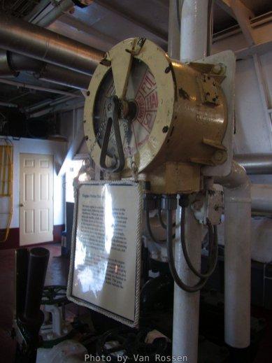 The engine room's engine order telegraph.