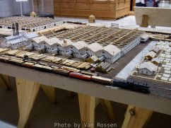 Showing part of the diorama of the WW1 spruce lumber mill.