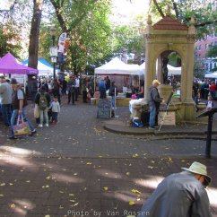 Farmers Market at Shemanski Park happens on Wednesday during the season. First time I have timed it to see it.