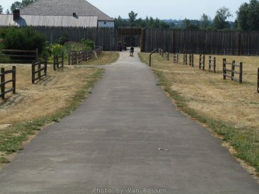 Entry walkway to the main gate on Fort Vancouver.