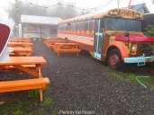 The old school bus at the Cheese Grill is looking faded like the neighborhood.