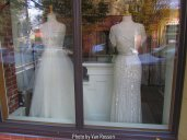 It was interesting to see that a bridal shop had gone in.