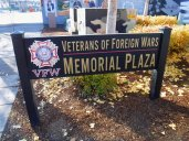 The plaza is to remember the service of veterans but the murals have made it more.