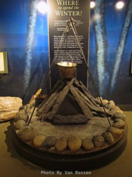 A display of making salt while staying a Fort Clatsop.