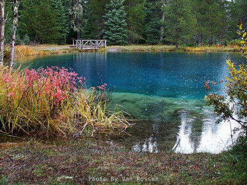 In the Fall color comes to Little Crater Lake along with the start of the rainy season.