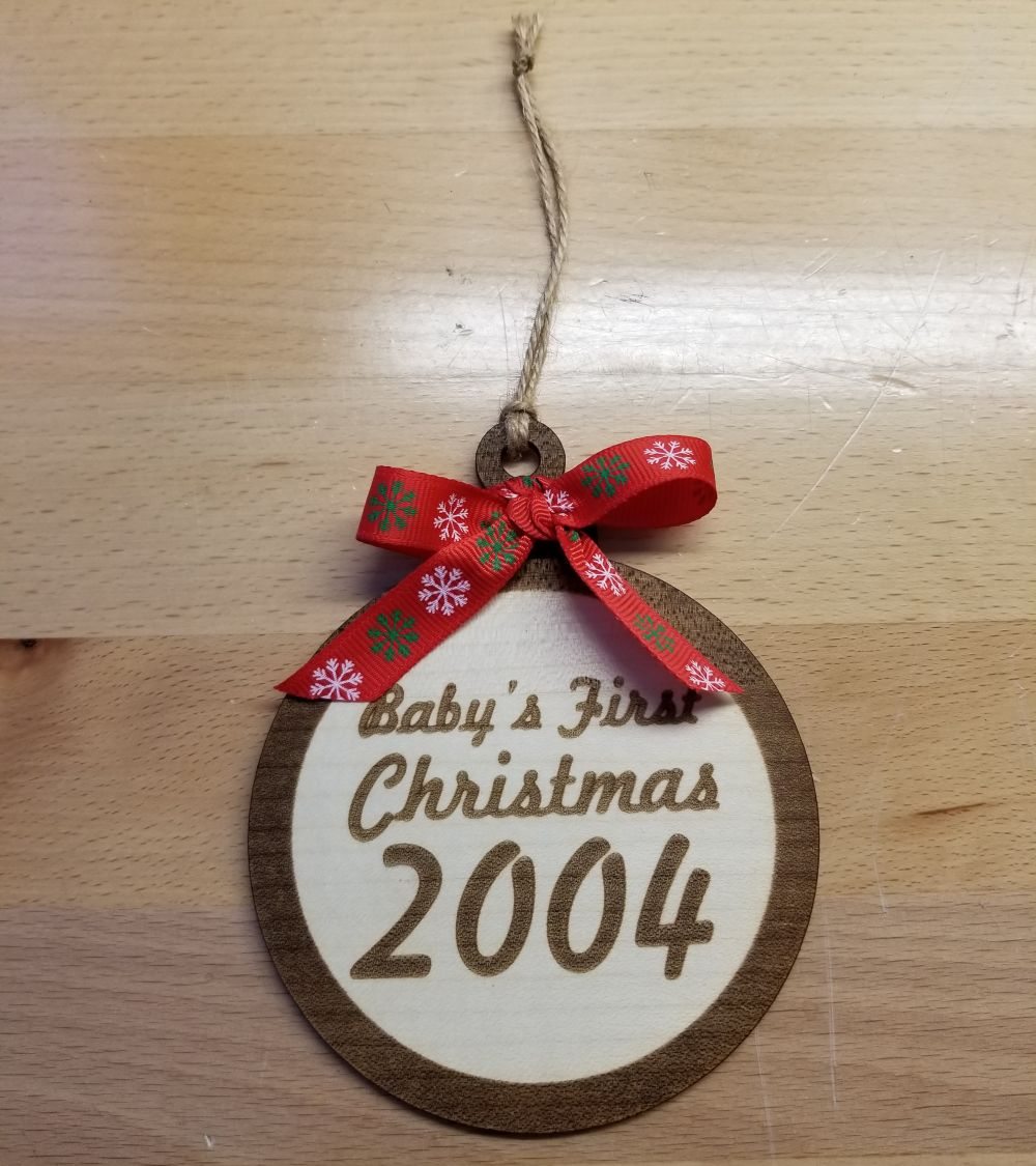 Baby's First Christmas Laser Engraved Christmas Ornament