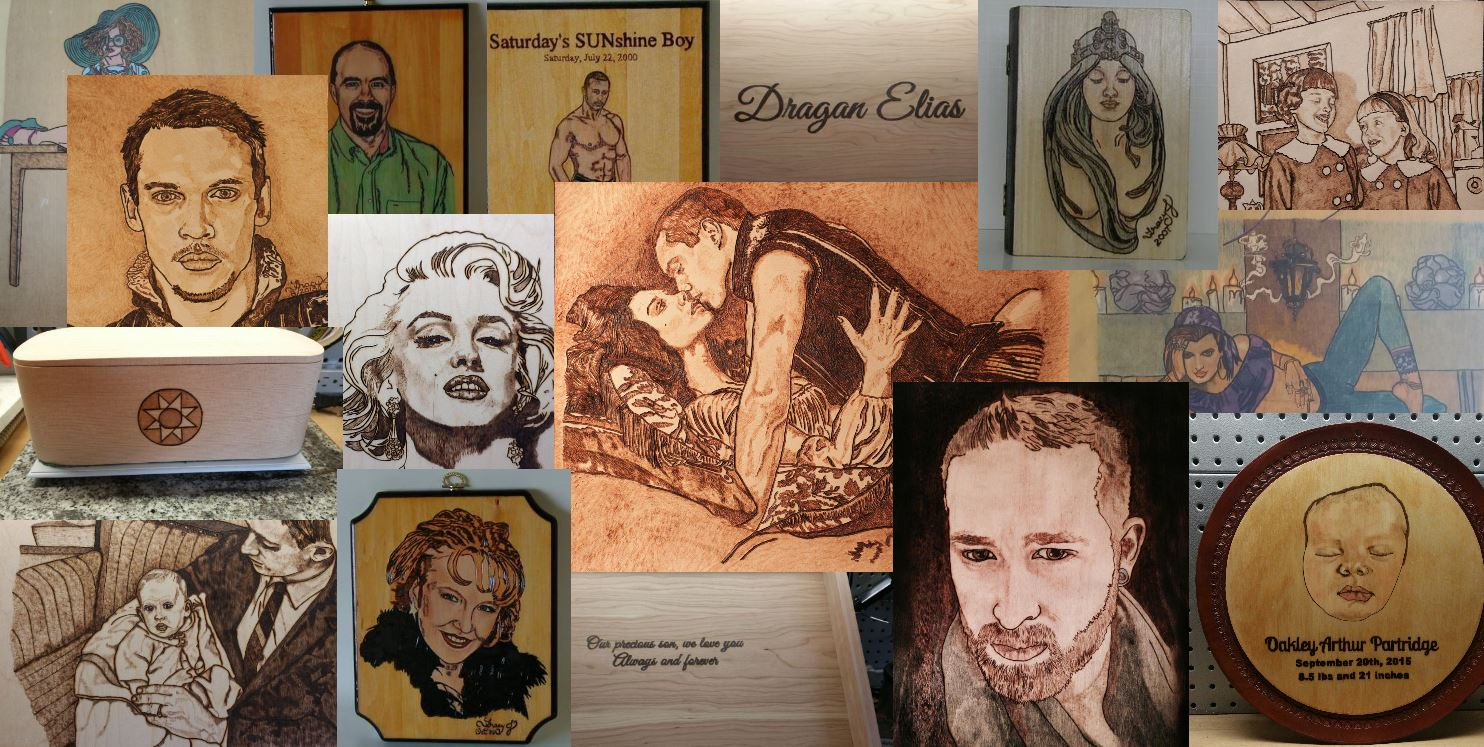 Portland Pyrography Personal Collage