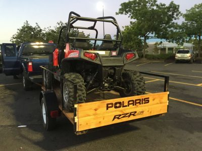 Polaris RZR Four Wheeler Trailer Gate