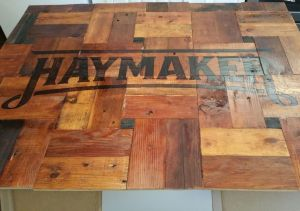 Haymaker Sign - Finished