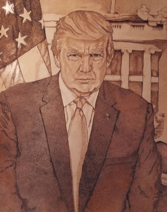 President Trump Portrait - Almost Finished