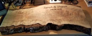 Finished Wedding Reception Guest Plank