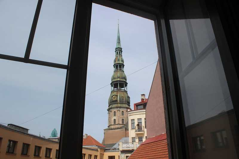 REVIEW PHOTO: EMERSON MALONE - Review intern Emerson Malone shot this image of St. Peters Church during a walking tour of Riga, Latvia.