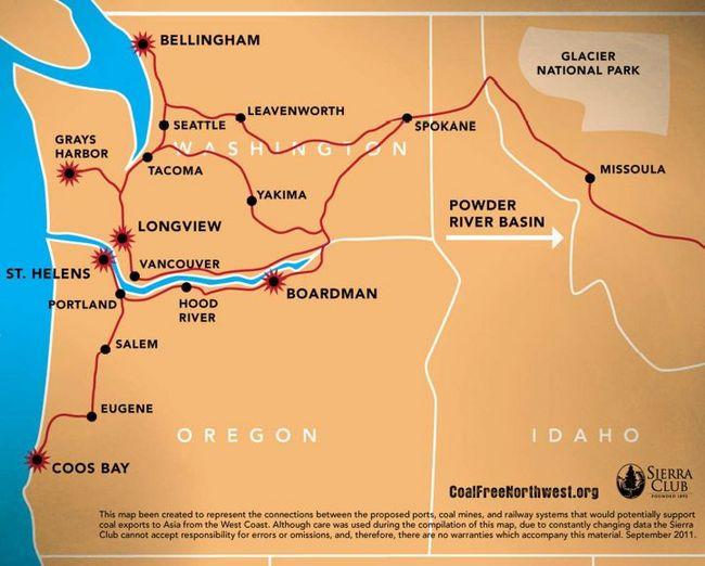 Northwest Rail Routes from Sierra Club Presentation