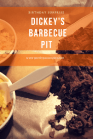 We went on a road trip for my birthday this year, where Peter surprised me with the help from Dickey's Barbecue Pit.