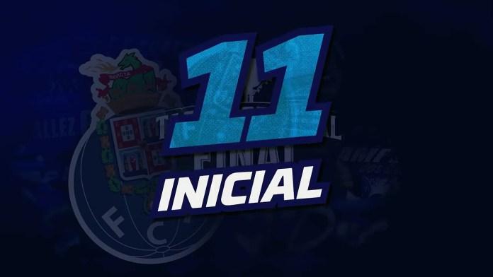O 11 inicial do FC Porto contra o Vitória Guimarães[Primeira Liga]