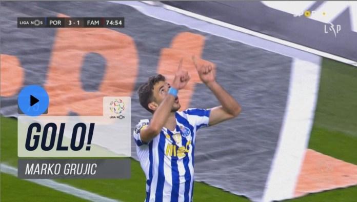 Marko Grujic estreia-se a marcar pelo FC Porto