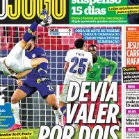Capas dos jornais desportivos de 14-04-2021