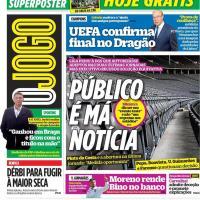 Capas jornais desportivos 14-05-2021