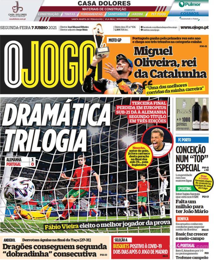 Capas jornais desportivos 07-06-2021