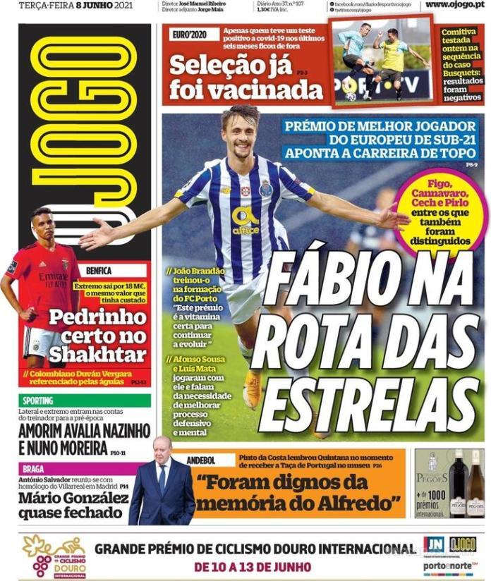 Capas jornais desportivos 08-06-2021