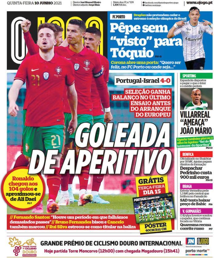 Capas jornais desportivos 10-06-2021