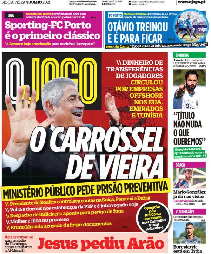 Capas jornais desportivos 09-07-2021
