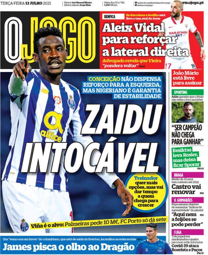 Capas Jornais desportivos 13-07-2021
