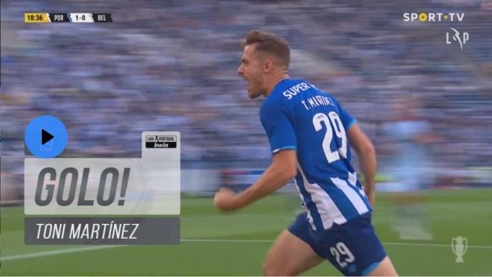 Toni Martínez põe o FC Porto em vantagem desta forma