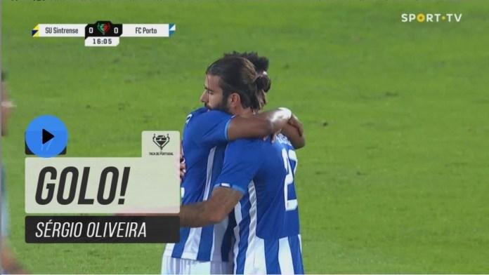 Bomba de Sérgio Oliveira abre o marcador contra o Sintrense