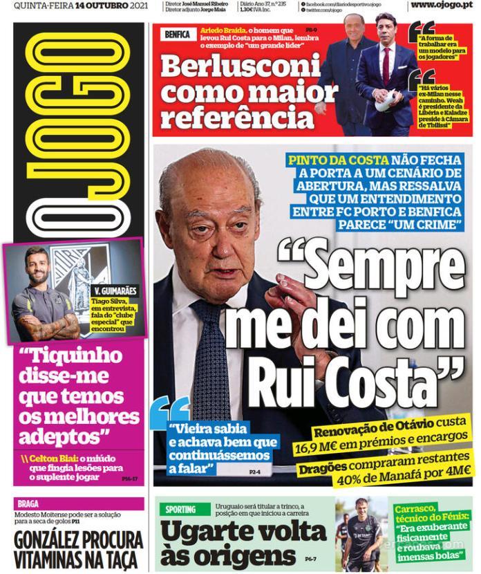 Capas Jornais desportivos 14-10-2021