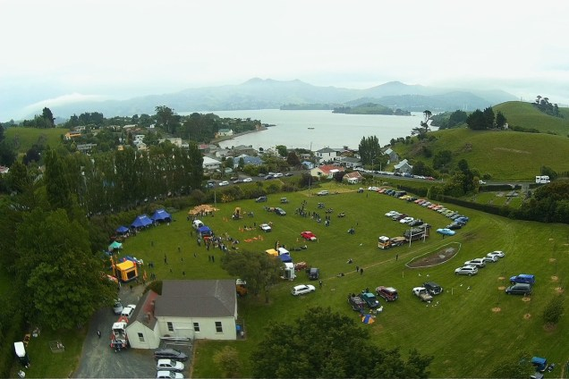Aerial view of 2014 show