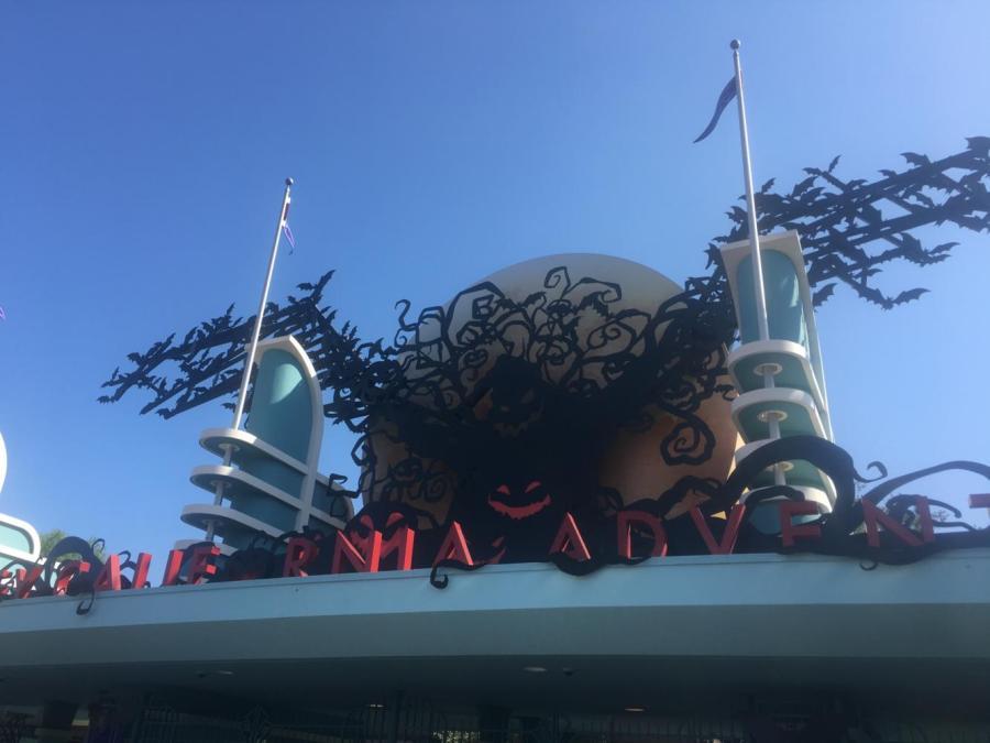 Disney decorates the gates to California Adventure.