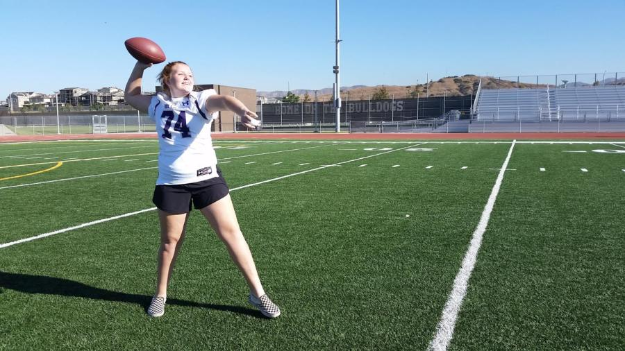 McMurray showcases her abilities while throwing the ball during practice.