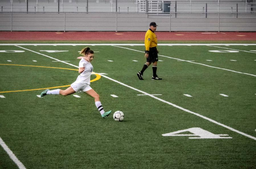 Hopper has been shooting goals on the soccer field since she was four years old.