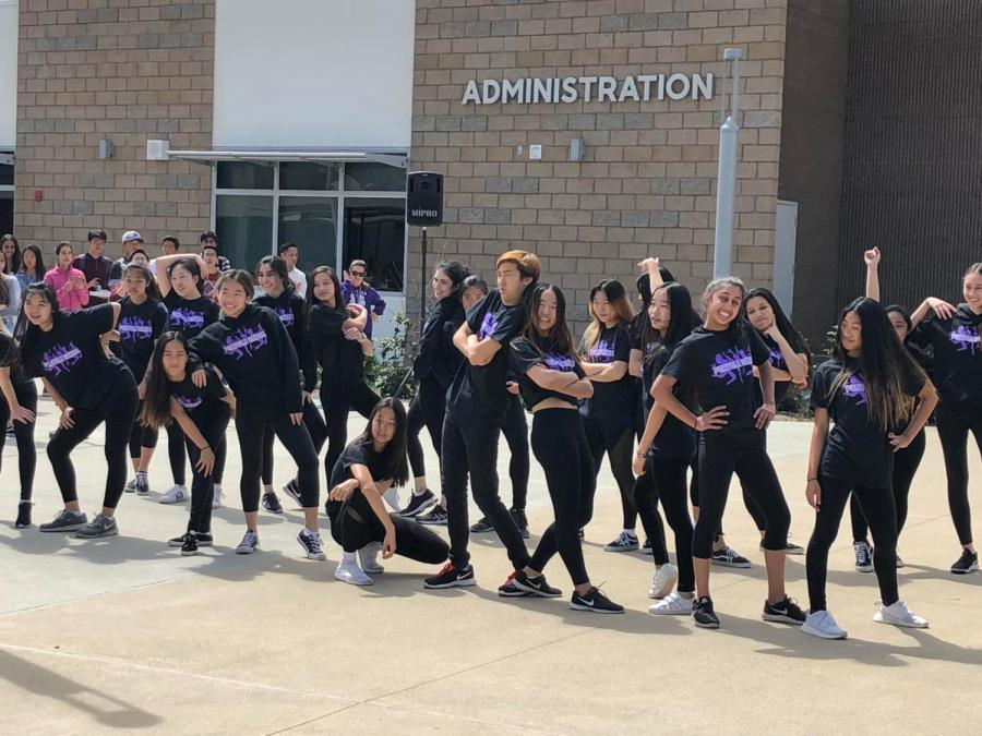 As the opening routine for the second day of Fine Arts Week, Dance 2 and Company performed their collaboration piece, including a mashup of Jason Derulo and Jax Jones.