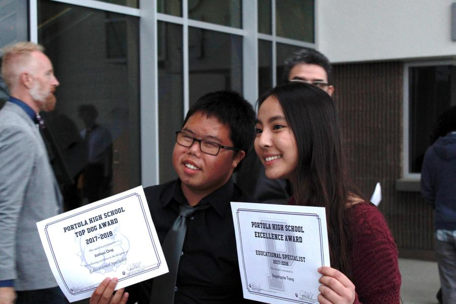 Freshman+Joshua+Ong+and+sophomore+Stephanie+Tang+created+an+unforgettable+bond+through+Buddy+Club+every+Wednesday+lunch.+They+were+both+recognized+by+the+counseling+department+for+having+a+positive+influence+and+creating+an+inclusive+environment+at+the+campus.